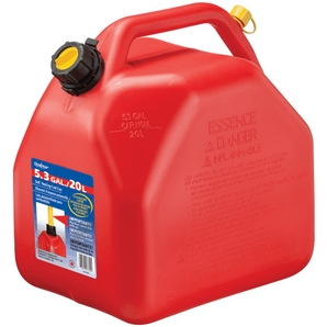 20L Plastic Red Jerry Gas Can