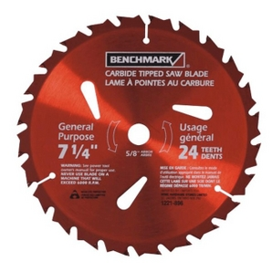 "7-1/4"" 24 Tooth Carbide Tipped Circular Saw Blade"