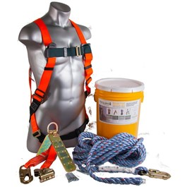 Medium/Large Size Safety Harness Fall Protection Kit, with Bucket