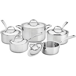 10 Piece 3 Ply Stainless Steel Cookware Set