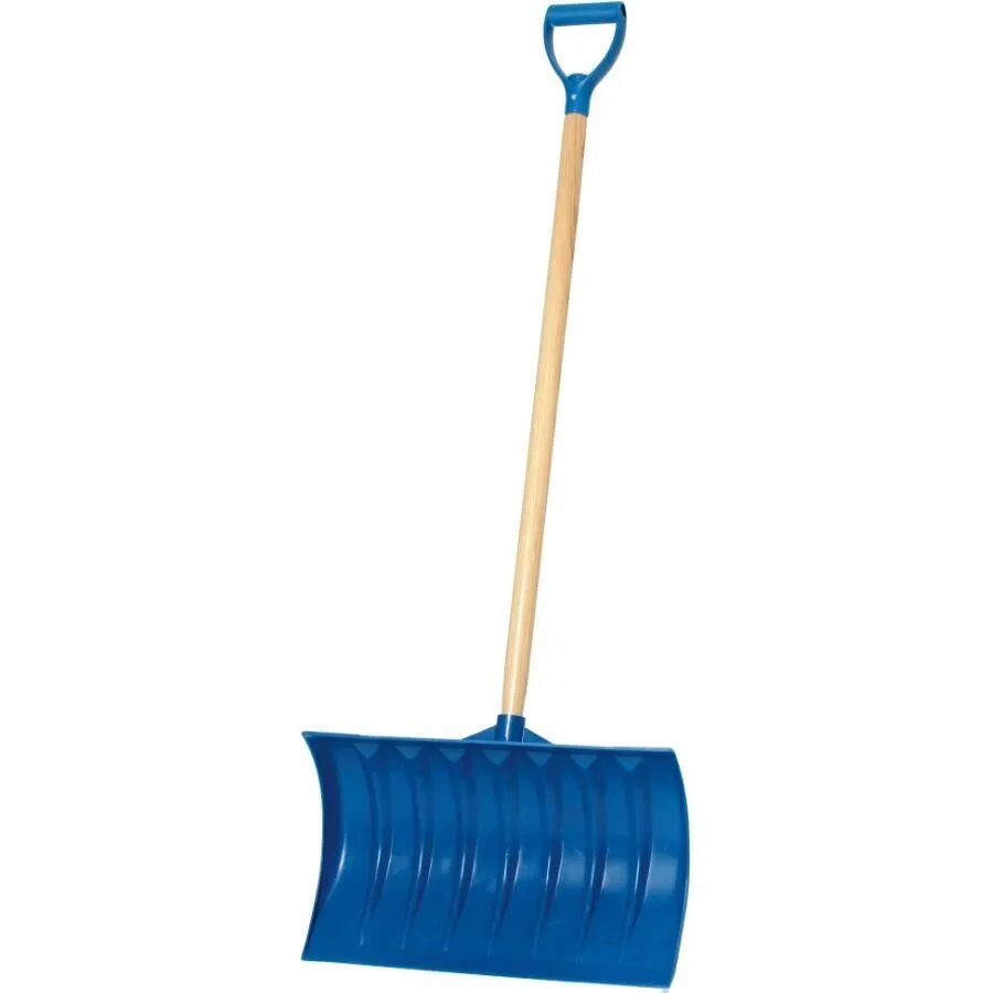 """21"""" Blue Poly Blade 40"""" Handle Snow Pusher"""